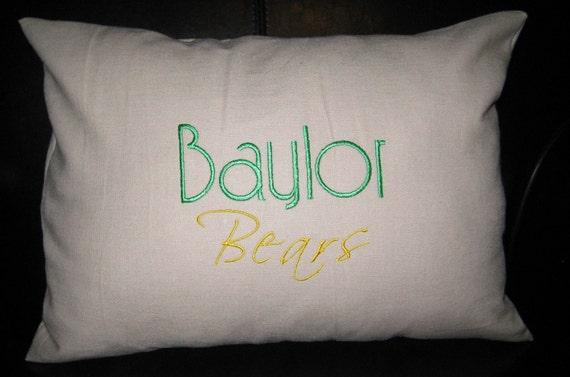 Baylor University Linen Pillow