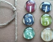 Numbered Glass Magnets for party favors, jars, and stylish decor.