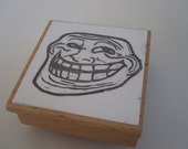 Troll Face Hand-Carved Stamp