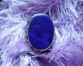 vintage lapis afghan big ring