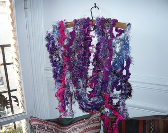 hand made crochet scarf,multicolor,extralong.FREE SHIPPING.
