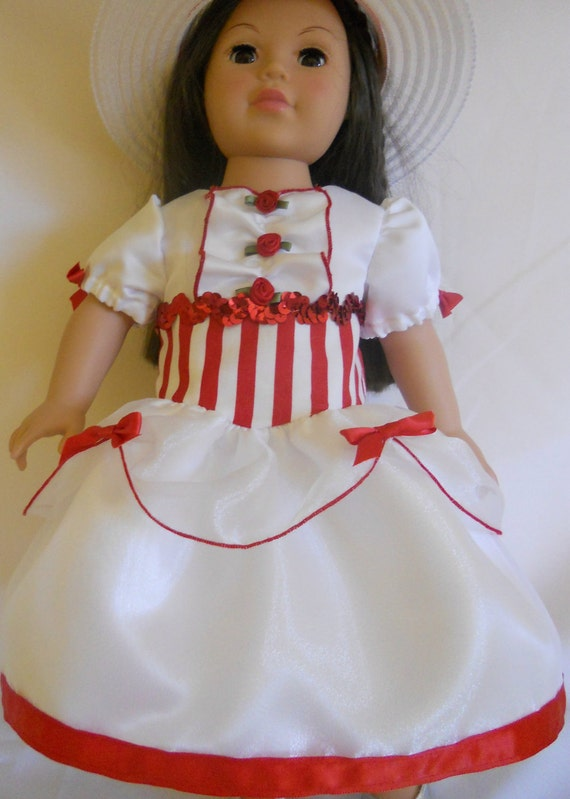 American Girl Doll Dress with Hat