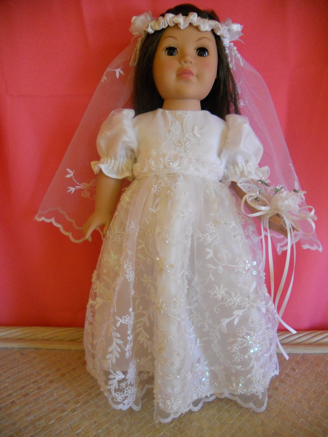 American girl doll wedding dress or communion dress 3 pc for American girl wedding dress