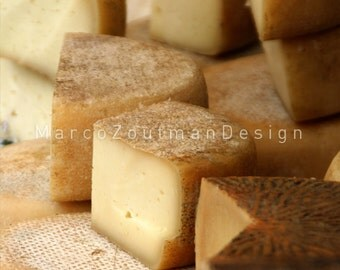 "Piece of Italian cheese - 8x8"" photograpy print"