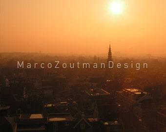 Sizzling sunrise in Haarlem