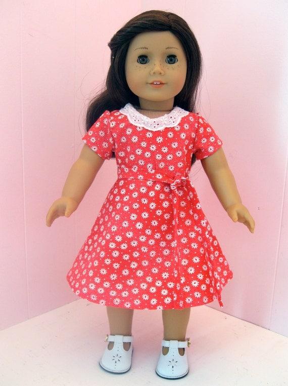 American Girl Clothes  1930s Feedsack Dress