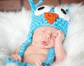 Crochet Owl Hat w/ custom color options for Babies Children and Kids, Photo Prop, Custom Design