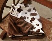 Rodeo Cowboy minky blanket