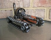 Space Tank, Recycled Metal Scuplture