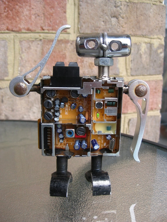 Audio The Robot, Recycled Metal Sculpture