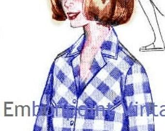 Plus Size (or any size) Vintage 1969 Women's Shirt Pattern - PDF - Pattern No 21 Tiffany Shirt