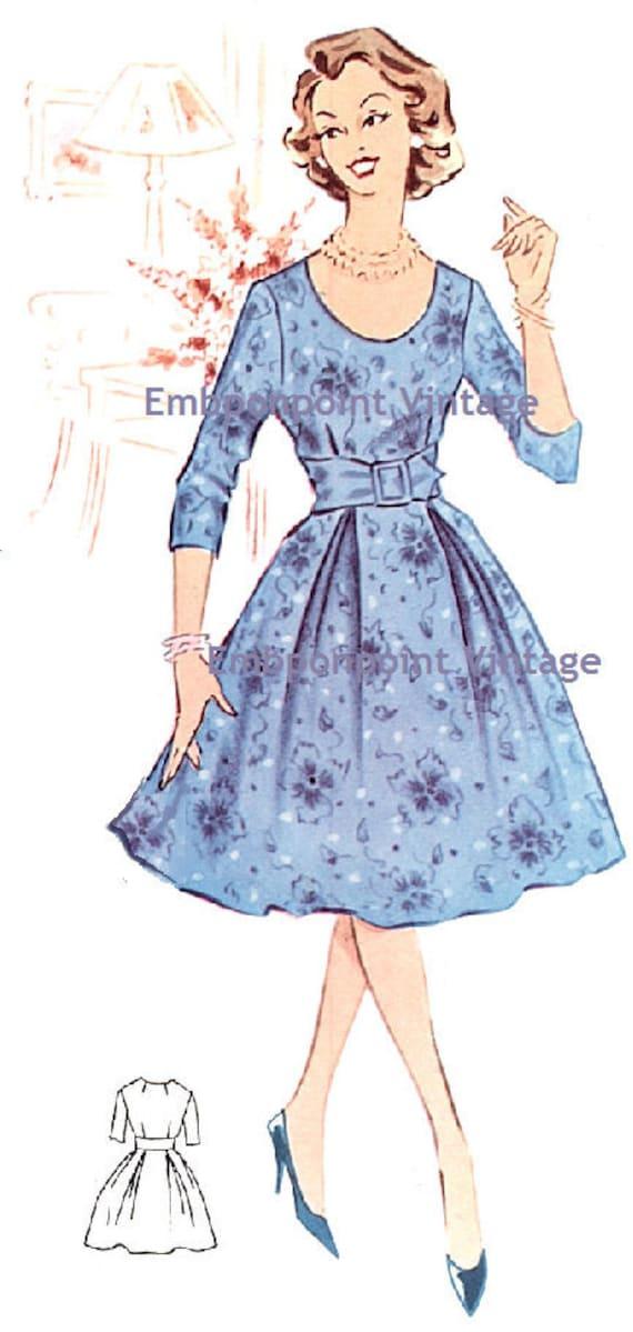 Plus Size Or Any Size Vintage 1950s Dress Pattern Pdf