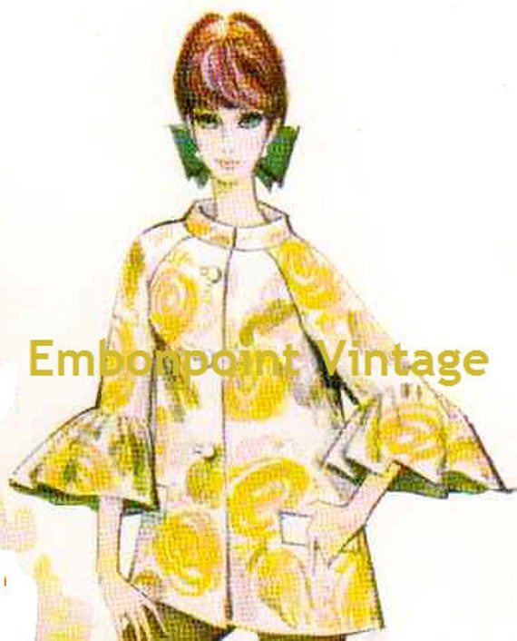 Plus Size Or Any Size Vintage 1969 Womens Jacket Pattern