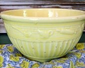 SALE...Large Robinson Ransbottom Pottery Co. Yellow glazed Mixing Bowl Roseville,Ohio RRP CO. marked