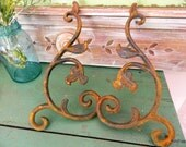 Vintage Wrought Iron Gingerbread, Wall or ornamental Restorative Hardware...Garden Decor,rustic Home