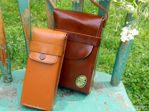 1950's Leather camera bags, Purse totes New Vintage Condition''SALE''
