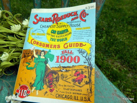 Sears Roebuck Consumers Guide Paperback over 1120 pages of vintage ads 1900