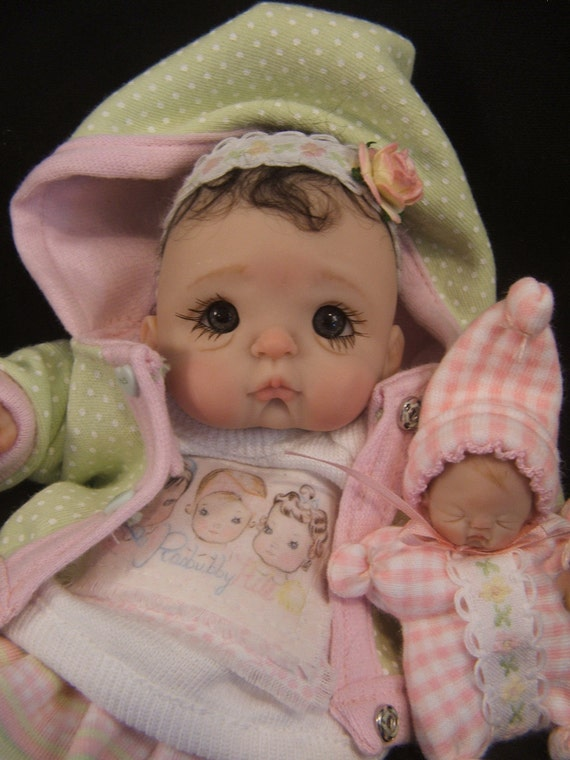 Baby Tutorial Instructions on how to make full sculpt ooak polymer clay baby art dolls by Rasbubbyhill