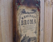 Vintage Wall Hanging Victorian Medicinal Advertisement Lithograph W. Baker & Cos. BROMA