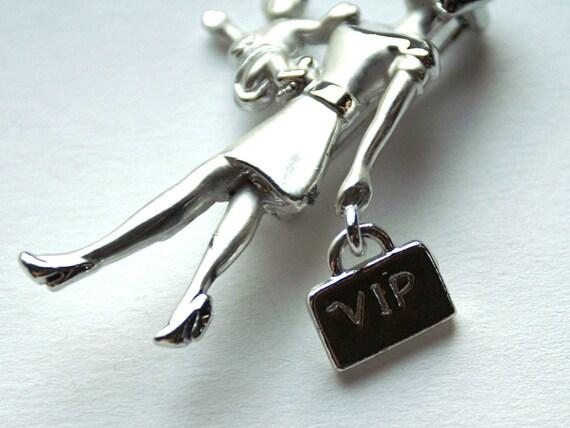 Vintage Lady Brooch VIP Mom Pin