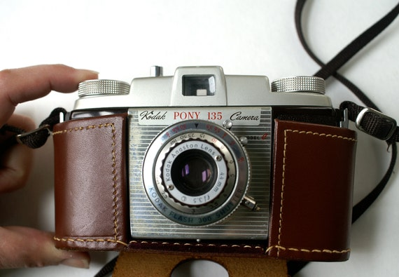 Kodak Camera Pony 135 Model C with Leather Field Case
