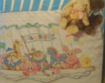 Dimensions Toy Shelf Baby Quilt KIT