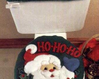 Ho Ho Ho Toilet Cover Set