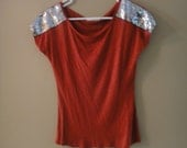 NEW WITH TAGS Burnt orange Knit top