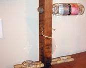 Four Bottle Wine Bat (wine rack) with Cork Stemware holder