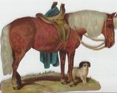 Dappled Palomino Pony - Vintage 1930s Victorian Scrap Horse