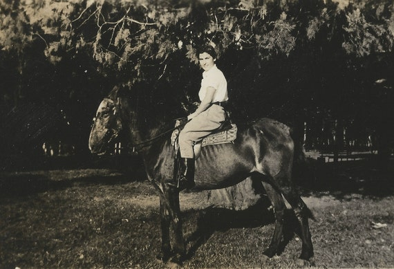 My Old Friend - Vintage 1930s Horse and Equestrienne Photograph