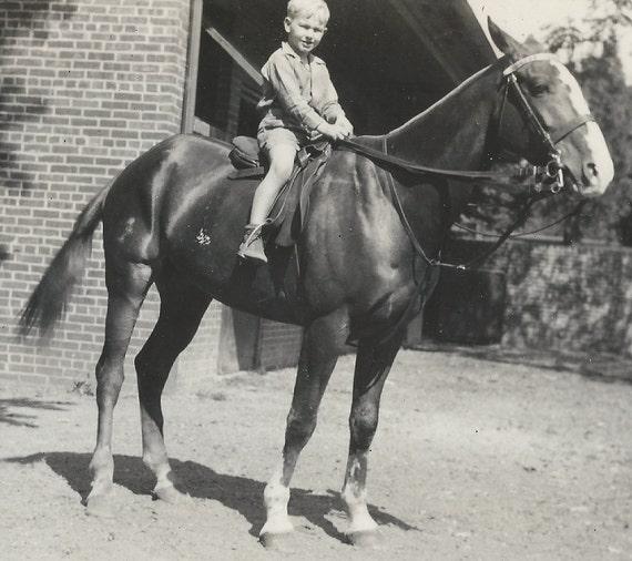 Billy & Blaze - Vintage 1930s Horse Photograph