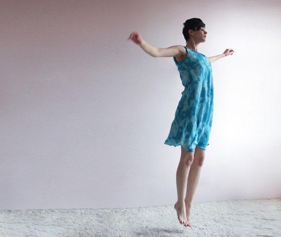 Sky print summer dress