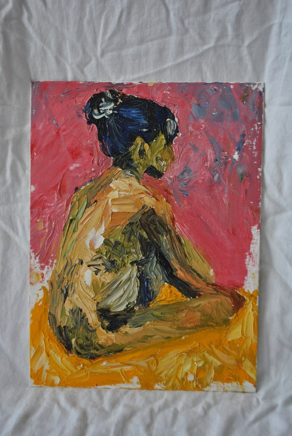 Abstract Oil Painting of Girl