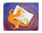 "Kazart Phoebe ""Good Book"" 8x10"" Print"