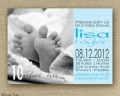 Baby Shower Invitation Boy or Baby Girl: Printable, 10 Perfect Toes