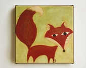 "Fox Giclee Print - ""The Golden Bird"" SALE - 40% OFF original price"