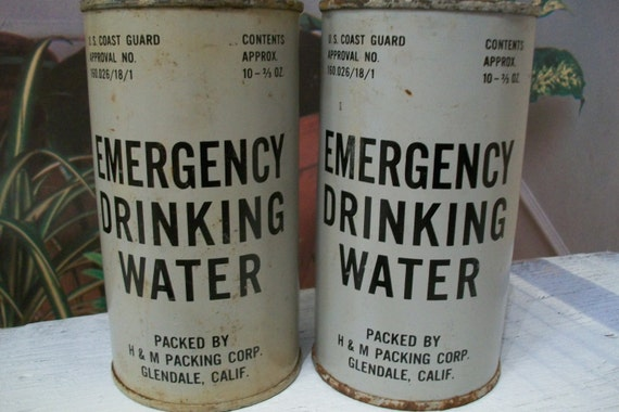 Emergency Drinking Water for two - U.S. Coast Guard Military 1957