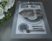 GRAY lovelymanners Placemat Sets (of 6) -  At the Table: For Polite People of all Ages