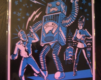 11x17 Poster ROBOT Print PoStEr Monster Retro B-Movie Lost in Space Forbidden Planet B9 vtg Robby the Robot Sci-fi Retro UFO Horror