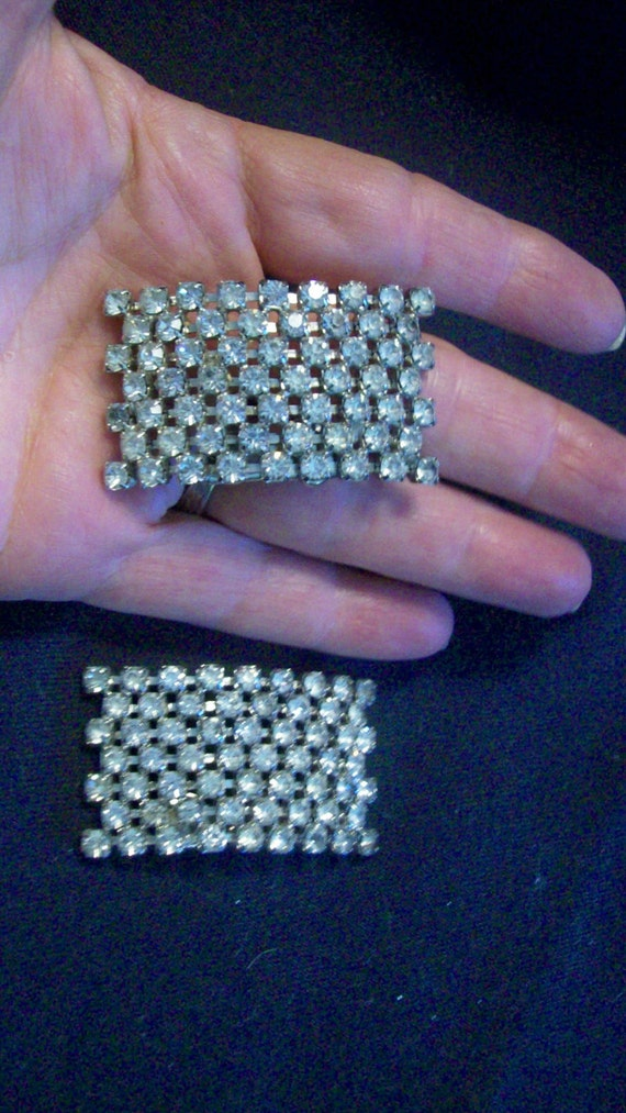 Lovely, Large, Vintage Shoe Clips, Rhinestones Galore, Lots of Bling