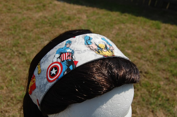 Captain America and Wolverine Fabric Headband