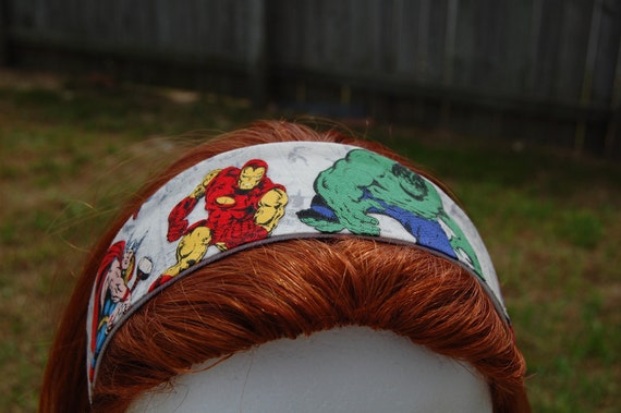 Iron Man and Incredible Hulk Marvel Avengers Fabric Headband
