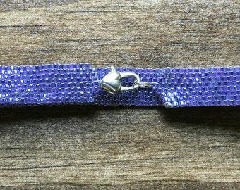 Pearlized Dusty Lavender Peyote Bracelet