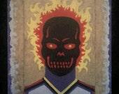 Black Fire Skull