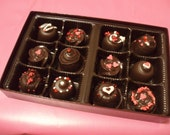 Chocolate Truffles Gift Box 1 Dozen