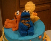 Sesame Street Cake Topper - Elmo, Cookie Monster, Big Bird