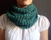 Lake Chelan Cowl - Wool, Hand Knitted