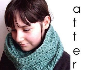 Crochet pattern Pdf- salvia green crochet cowl