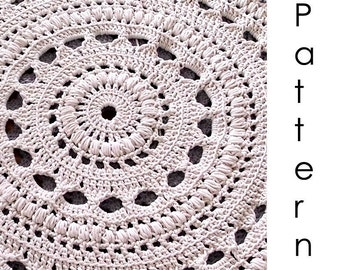 Crochet Stitches Uk Pdf : Crochet pattern Pdf- doily crochet rug